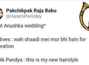 With the News of Anushka-Virat wedding, #VirushkaWEDDING trending on Tweeter with best memes ??